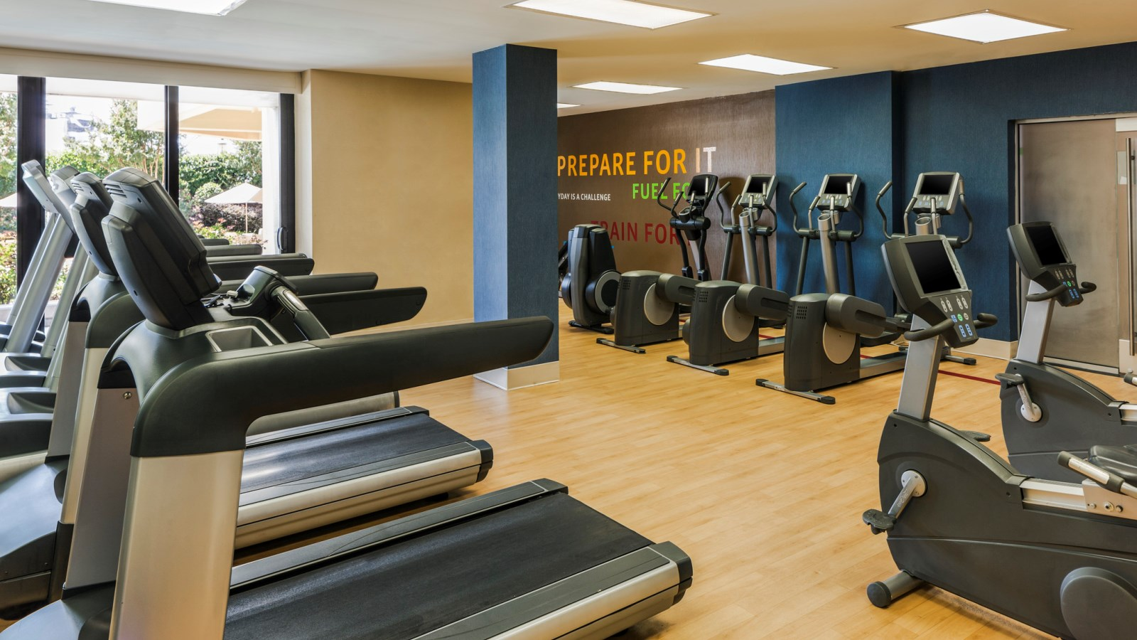 Fitness Center at Sheraton Norfolk Waterside Hotel